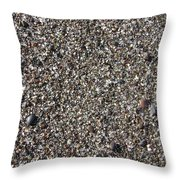 Glass In The Gravel Throw Pillow