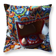 Glass Jaguar Throw Pillow