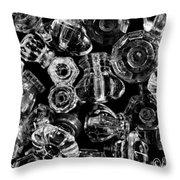 Glass Knobs - Bw Throw Pillow