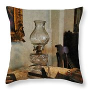 Glass Lamp And Stereopticon Throw Pillow