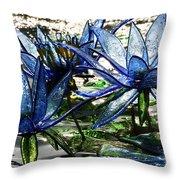 Glass Lilies Throw Pillow