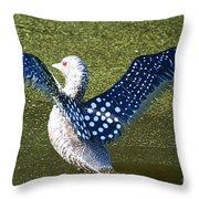 Glass Loon Throw Pillow