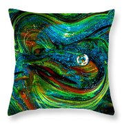 Glass Macro Abstract 13e7a Throw Pillow