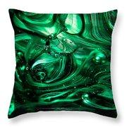 Glass Macro Abstract Egw2 Throw Pillow
