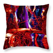 Glass Macro Abstract M2 Ce Throw Pillow