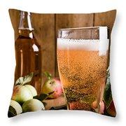Glass Of Cyder Throw Pillow