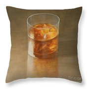 Glass Of Whisky 2010 Throw Pillow by Lincoln Seligman