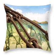 Glass Ornament Throw Pillow