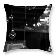 Glass Ornaments Throw Pillow