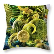 Glass Shapes Throw Pillow