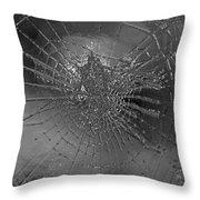 Glass Spider Throw Pillow
