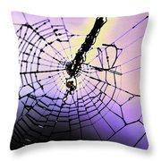 Glass Threads Throw Pillow