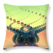 Glass Twirl  Throw Pillow