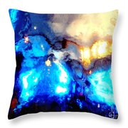 Glass Vase Abstract Throw Pillow