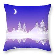 Glass Winter Throw Pillow