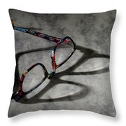 Glasses 1b Throw Pillow