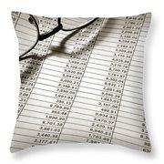 Glasses On Spreadsheet Throw Pillow