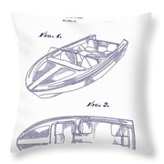 Glasspar 1960 California Boat Throw Pillow