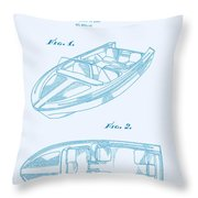 Glasspar 1960's California Boat Throw Pillow