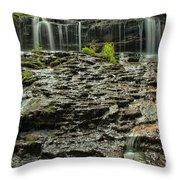 Glassy Rocks At Mohawk Throw Pillow