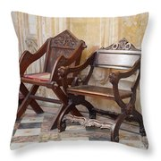 Glastonbury Chairs Throw Pillow