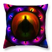 Glastonbury Tor Throw Pillow