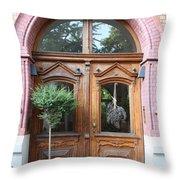 Glazed Door Throw Pillow