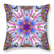 Gleaming Flower Bands Throw Pillow