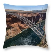 Glen Canyon Dam Bridge Throw Pillow