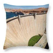 Glen Canyon Dam Throw Pillow