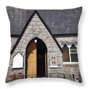 Glen Coe Church Throw Pillow