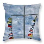 Glen Cove American Flag Throw Pillow
