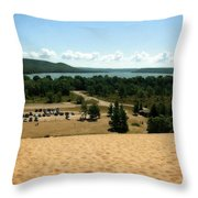 Glen Lake From The Dune Climb Throw Pillow