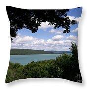 Glen Lake Michigan Throw Pillow