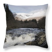 Glen Orchy Scotland Throw Pillow
