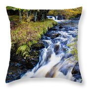 Glenbrittle Waterfall Throw Pillow