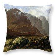 Glencoe, 1864 Throw Pillow