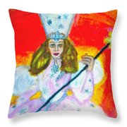 Glenda The Good Witch Of Oz Throw Pillow