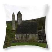 Glendalough Cloister Ruin - Ireland Throw Pillow