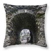 Glenluce Abbey - 3 Throw Pillow