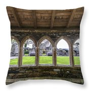 Glenluce Abbey - 4 Throw Pillow