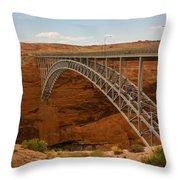 Glenn Dam Bridge Throw Pillow