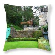 Glenveagh Garden Gate Throw Pillow