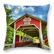 Glessner Covered Bridge Throw Pillow