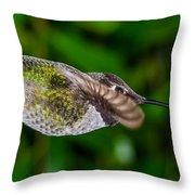Gliding Hummingbird Throw Pillow