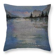 Glimmering Water Throw Pillow