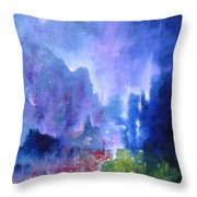 Glimpse From A Rock 'n' Roll Party Throw Pillow