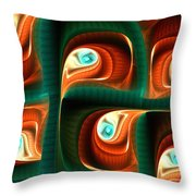 Glimpses Throw Pillow by Anastasiya Malakhova