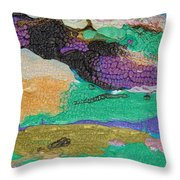 Glimpses Of Spring Abstract Painting Throw Pillow