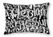 Gliph Throw Pillow